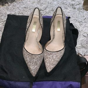 Louise et Cie Animal Print Pointy Toe Pumps